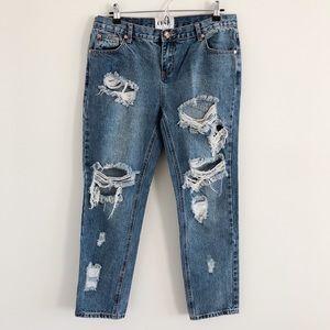 One Teaspoon Awesome Baggies Boyfriend Jeans 30